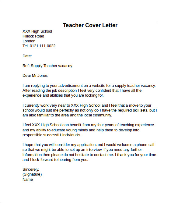 application letter for secondary school