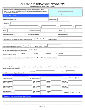 fill out job applications online