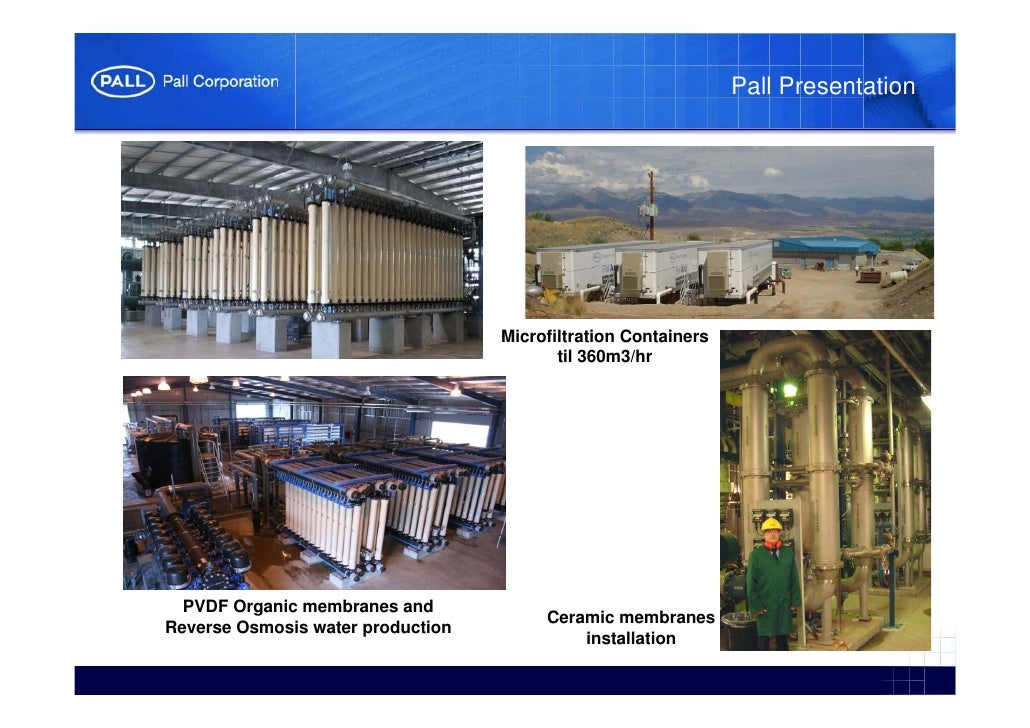 microfiltration and ultrafiltration principles and applications
