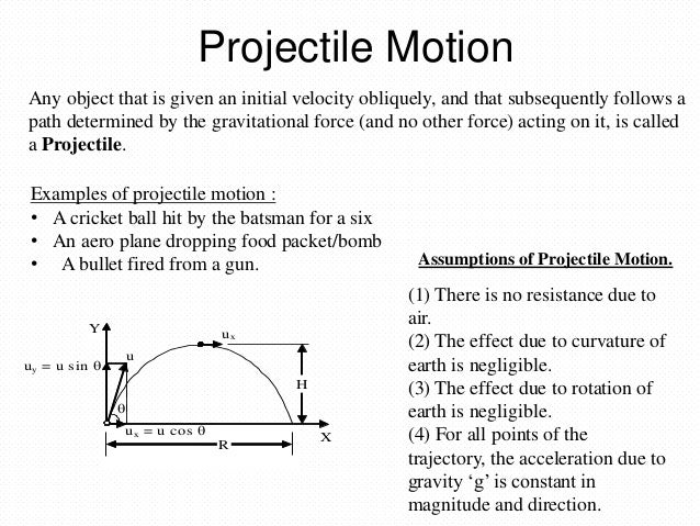 projectile motion and its application
