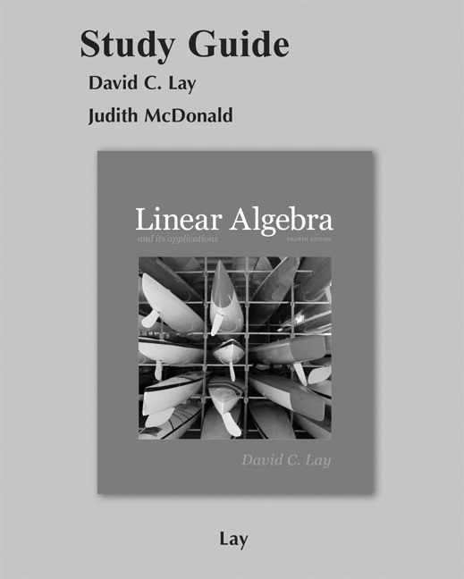 linear algebra and its applications 5th edition study guide