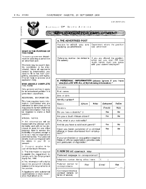 how to fill out the availability on a job application