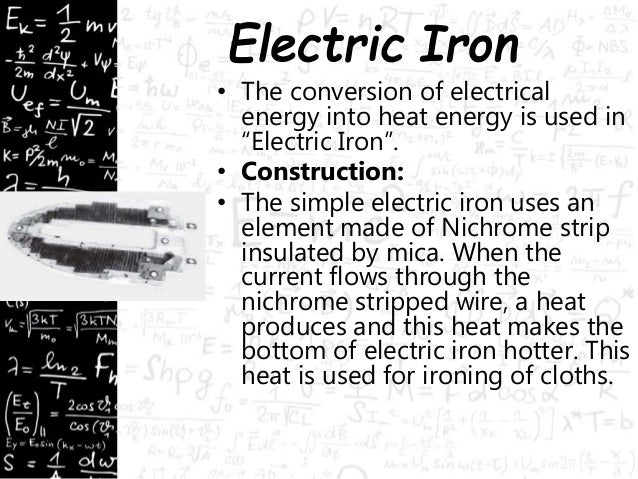application of heating effect of electric current