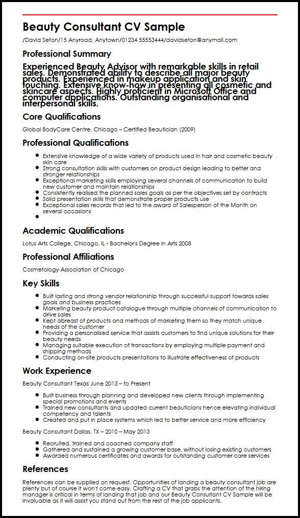 advanced skills examples on a job application
