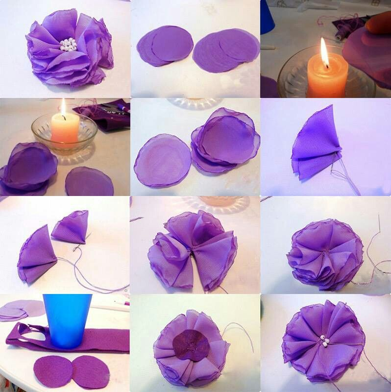 how to make applique flowers